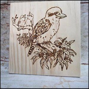 Wood burnt Kookaburra